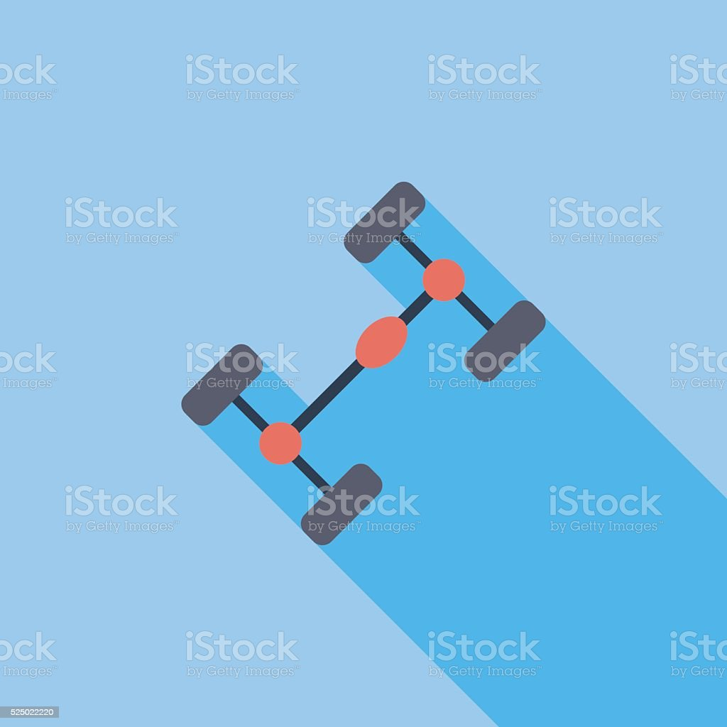 Chassis car single icon vector art illustration