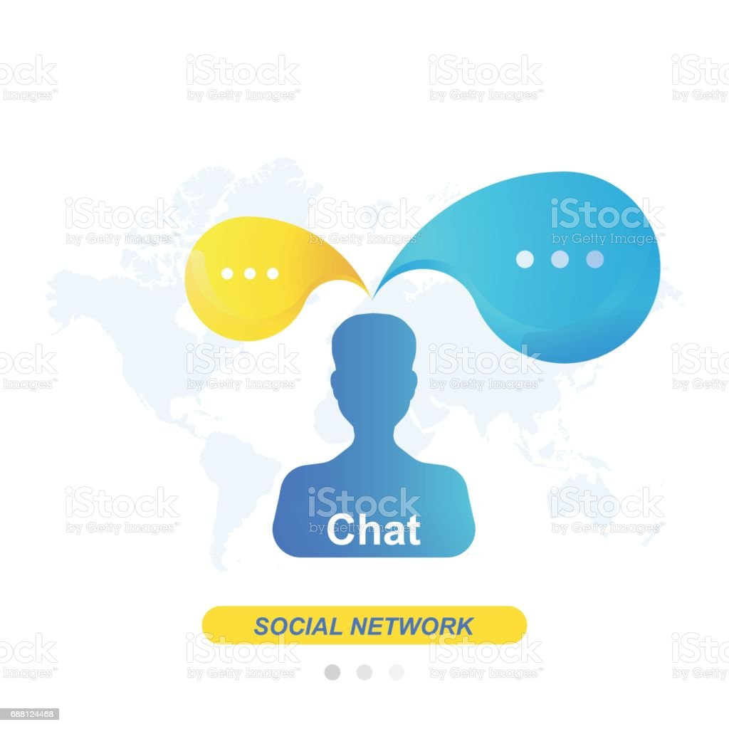 Chat and message icon on background world map flat vector chat and message icon on background world map flat vector illustration eps 10 royalty gumiabroncs Image collections