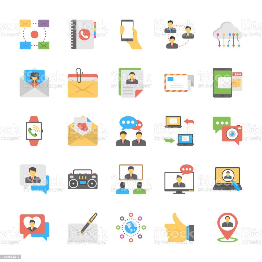 Chat and Social Networking Flat Icons royalty-free chat and social networking flat icons stock vector art & more images of air mail