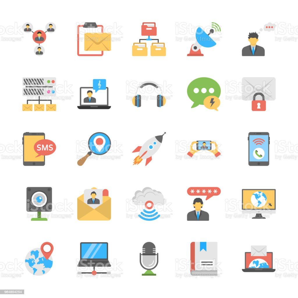 Chat and Social Networking Icons Set royalty-free chat and social networking icons set stock vector art & more images of communication