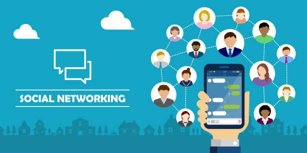 Chat app (SNS/message app) vector banner illustration vector art illustration