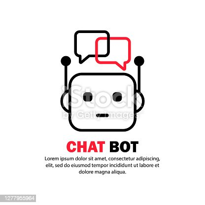 Chat bot icon. Service support. Vector on isolated white background. EPS 10.