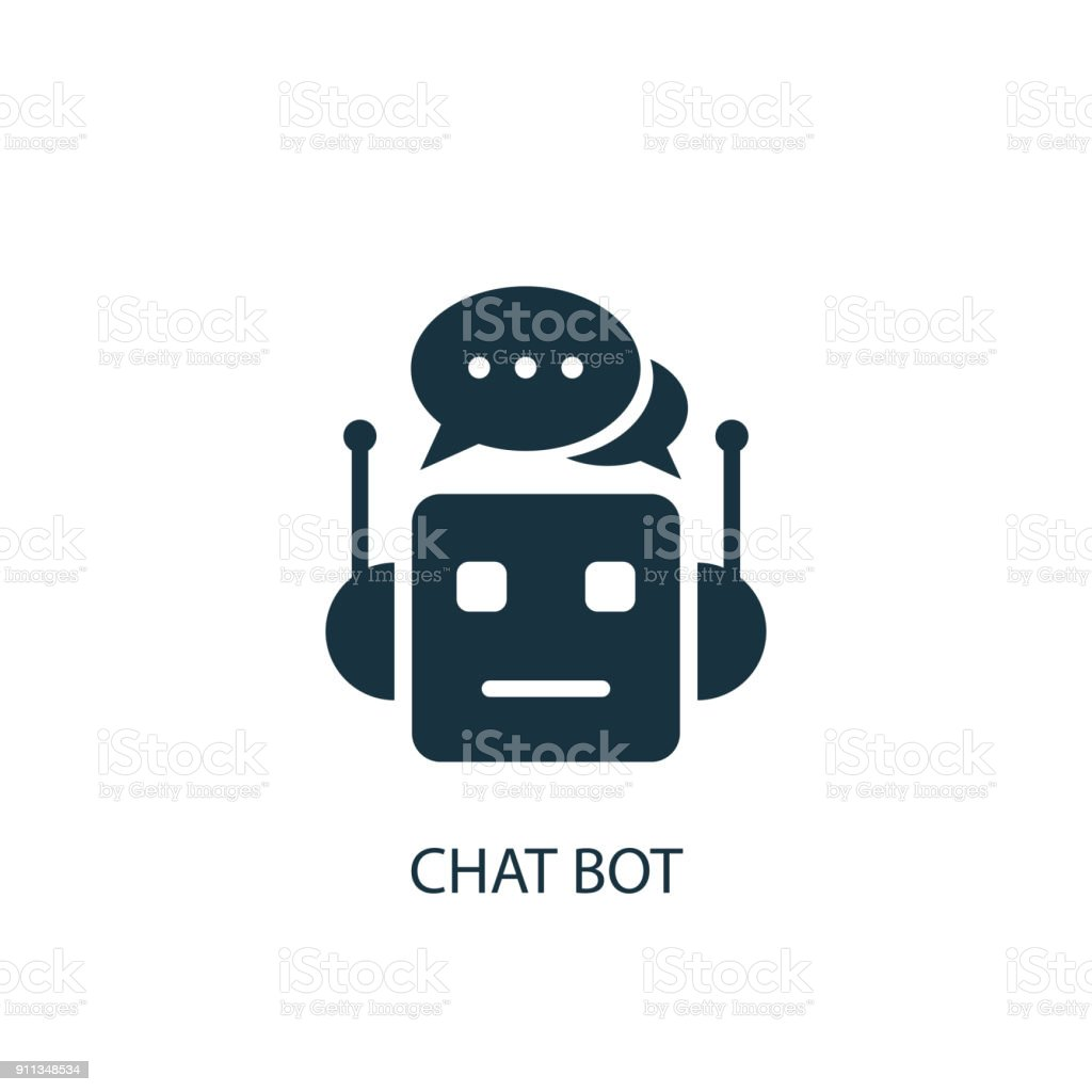Chat Bot icon. Simple element illustration vector art illustration