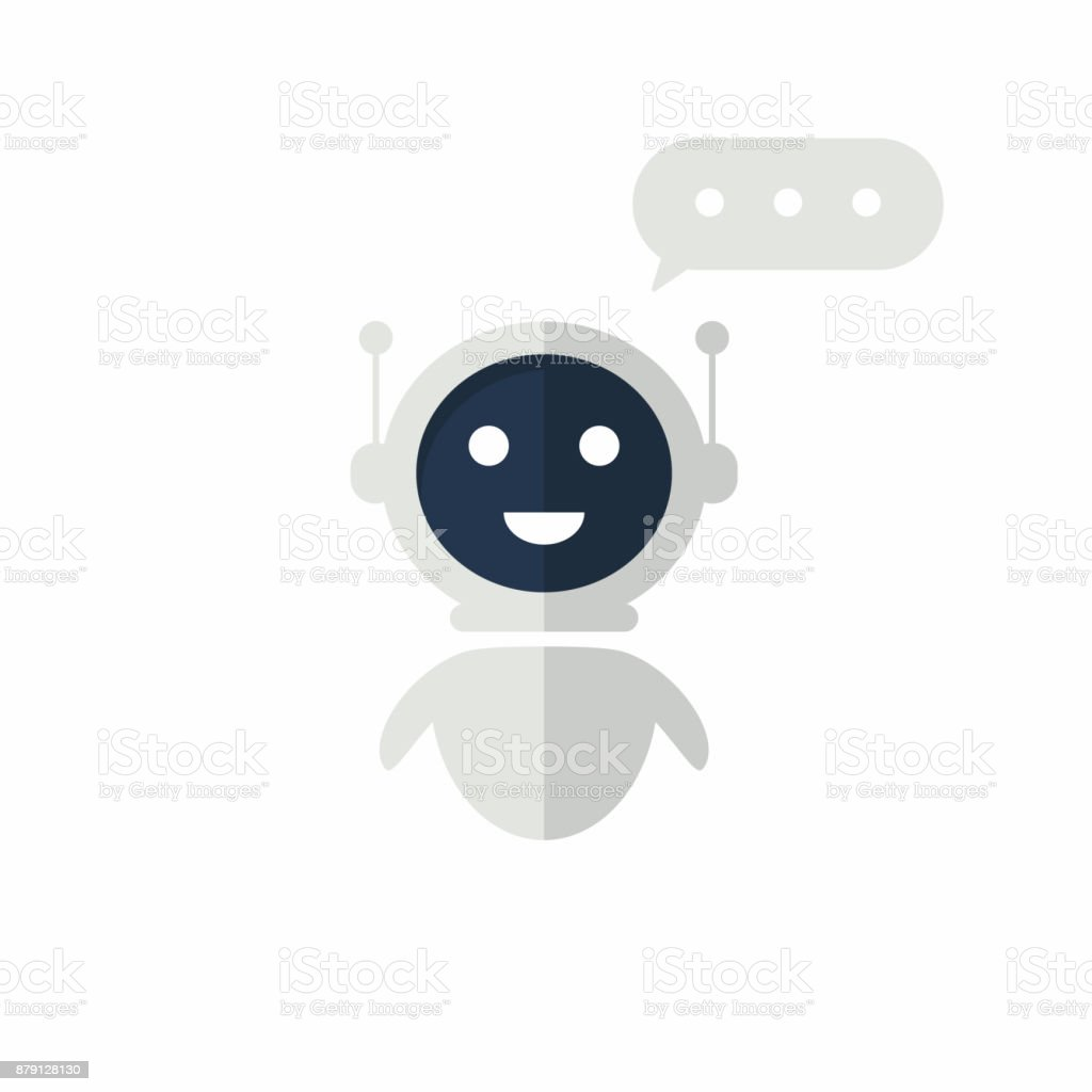 Chat bot icon with speech bubble. Virtual assistant for website. Chat bot concept for customer sevice