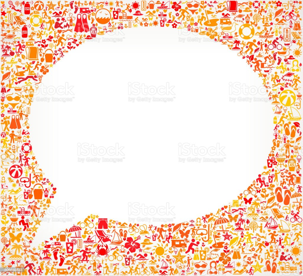 Chat bubble on Summer royalty free vector art Pattern Background royalty-free stock vector art