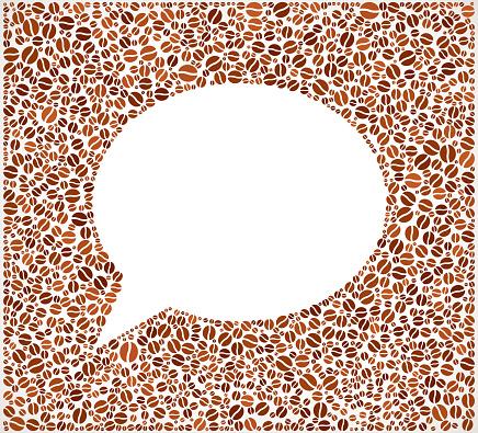 Chat Bubble royalty free Coffee Bean Pattern
