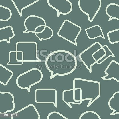 Chat bubble seamless pattern, vector illustration. EPS 10.