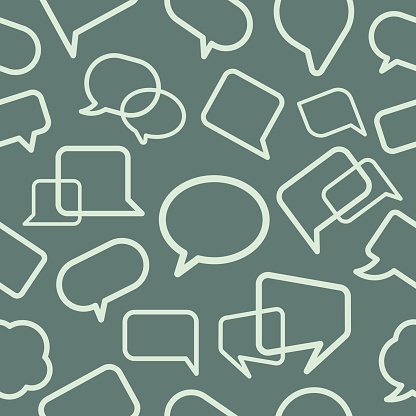 Chat bubble seamless pattern