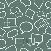Chat bubble seamless pattern, vector illustration.\nEPS 10.