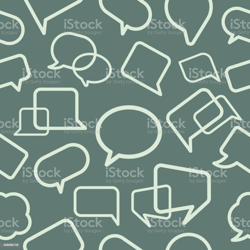 Chat bubble seamless pattern vector art illustration