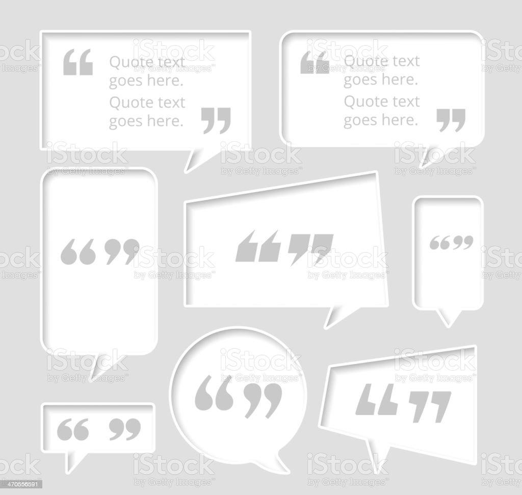 Chat Bubble Set vector art illustration