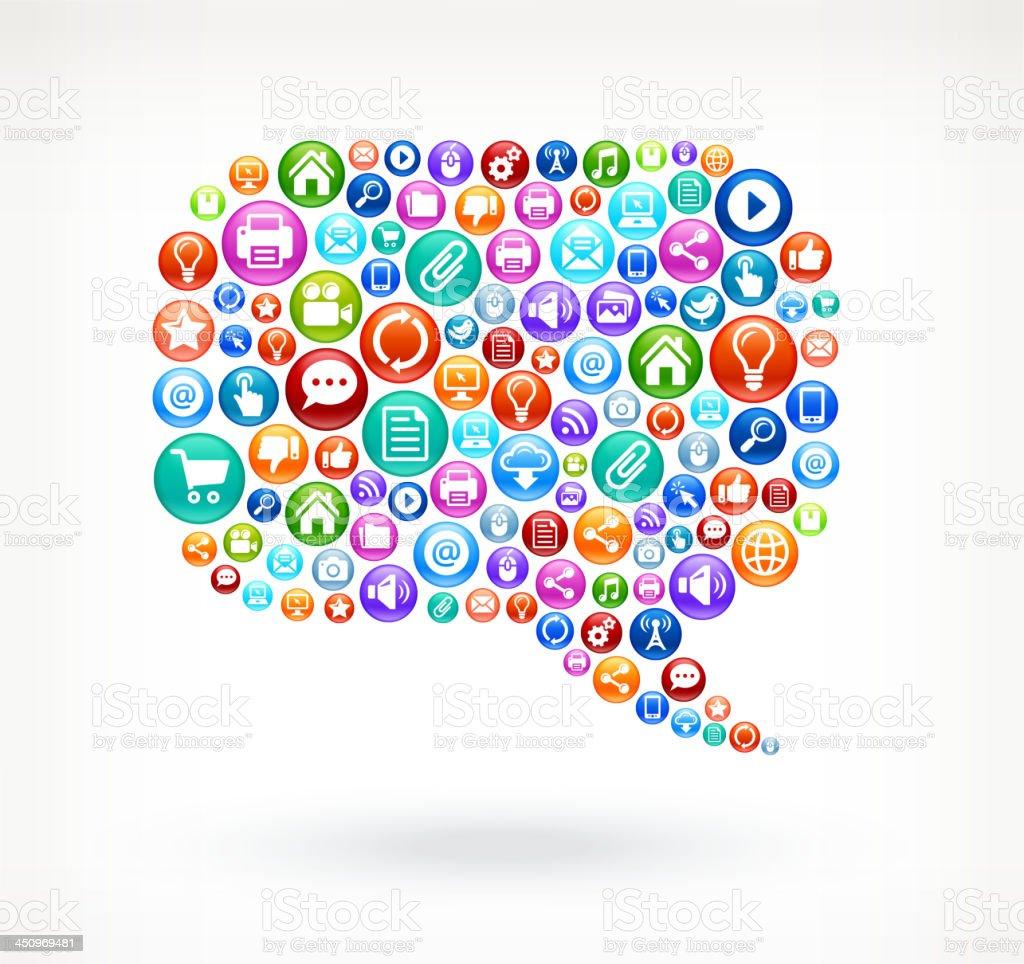 Fabuleux Bulle De Chat Réseaux Sociaux Et Internet Art Vectorielles Libres  WR78