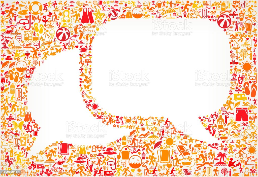Chat bubbles on Summer royalty free vector art Pattern Background royalty-free stock vector art