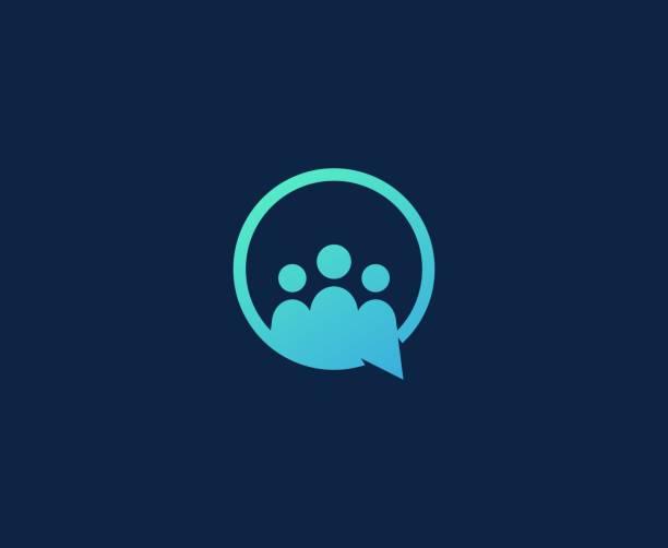 Chat Business-Leute Ikone – Vektorgrafik