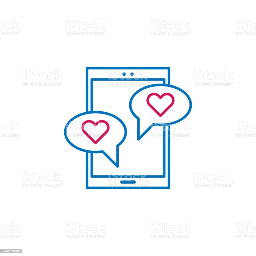 Chat Couple Dating Love Icon Element Of Romance For Mobile Concept