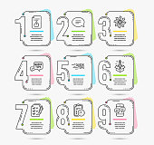 Chat, Exam time and Education icons. Versatile, Approved document and Quick tips signs. Vector