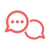 chat icon, bubble talk, communication symbol vector