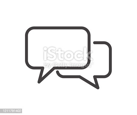 istock Chat icon. Speech Bubble icon. Vector flat design 1211791402