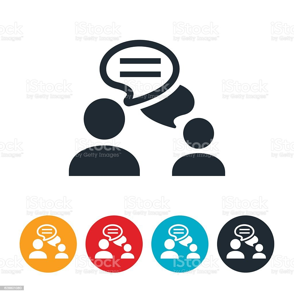 royalty free two people talking clip art vector images rh istockphoto com Cartoon People Talking Clip Art Cartoon People Talking