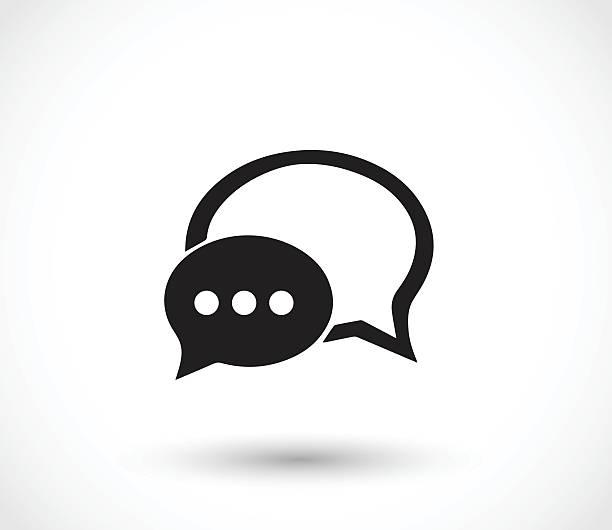 Discutez avec des nuages de dialogue icône vector illustration - Illustration vectorielle