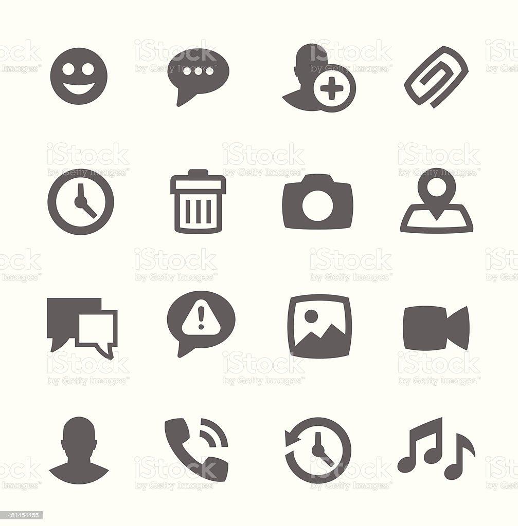 Chat icons vector art illustration