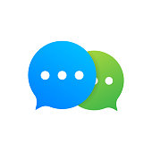 Chat Message Bubbles icon on white background. Vector stock illustration