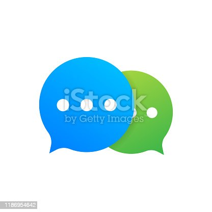 istock Chat Message Bubbles icon on white background. Vector stock illustration. 1186954642