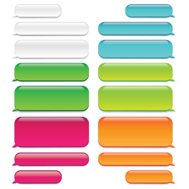 illustrations, cliparts, dessins animés et icônes de chat des bulles de message o verre apparence - conversation sms - bulle de texte