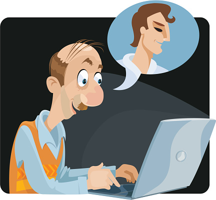 Chat Room Fantasy Stock Illustration - Download Image Now