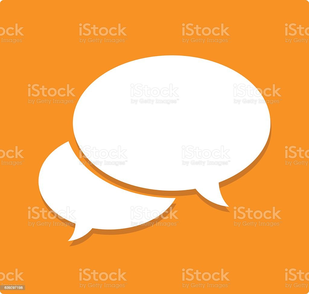 Chat Speech Balloons Flat Icon vector art illustration