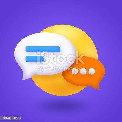 istock Chat Speech Bubble Communication 1300161276