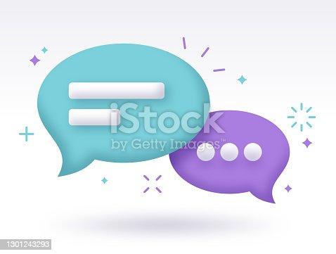 istock Chat Speech Bubble Communication 1301243293
