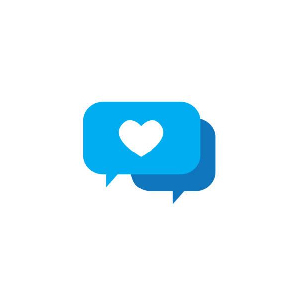 Chat Speech Bubble Icon Influencer Marketing Representative vector art illustration