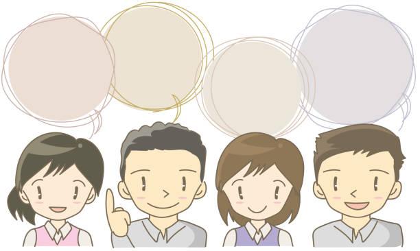 宴会セット フレーム - 従業員 - オペレーター 日本人点のイラスト素材/クリップアート素材/マンガ素材/アイコン素材