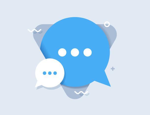 chat-sprache-flachsymbol - feedback stock-grafiken, -clipart, -cartoons und -symbole