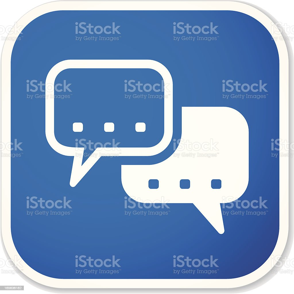 chat sq sticker royalty-free stock vector art
