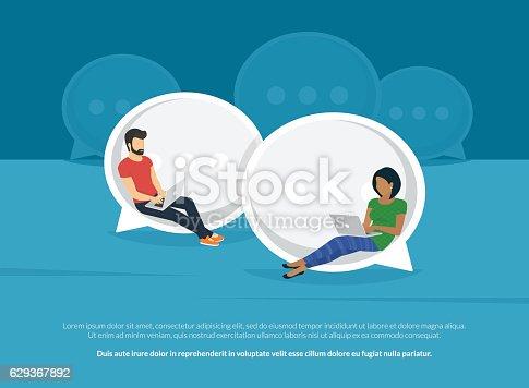 istock Chat talk concept illustration 629367892
