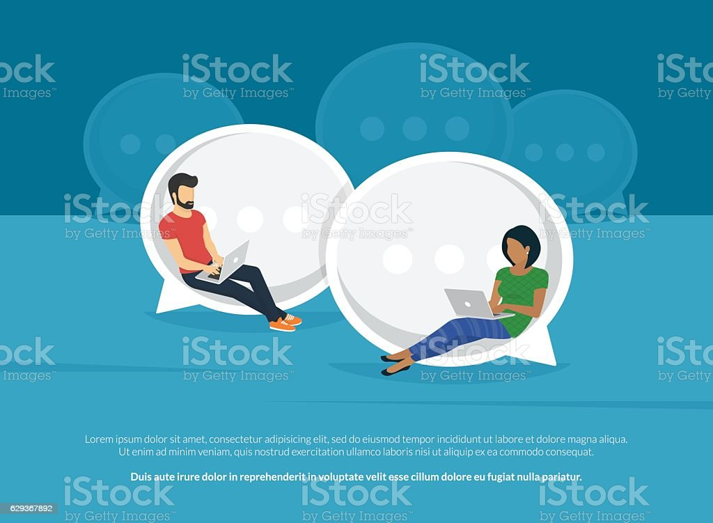 Chat sprechen Konzept illustration – Vektorgrafik
