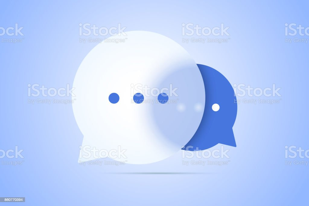 Chat vector illustration with speech bubble symbols. vector art illustration