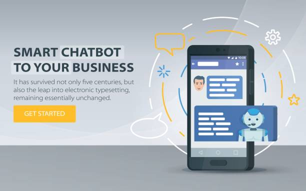 Chatbot and future marketing concept. Chatbot business concept. Modern banner for the site. vector art illustration