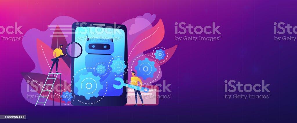 Chatbot App Development Concept Banner Header Stock Vector Art
