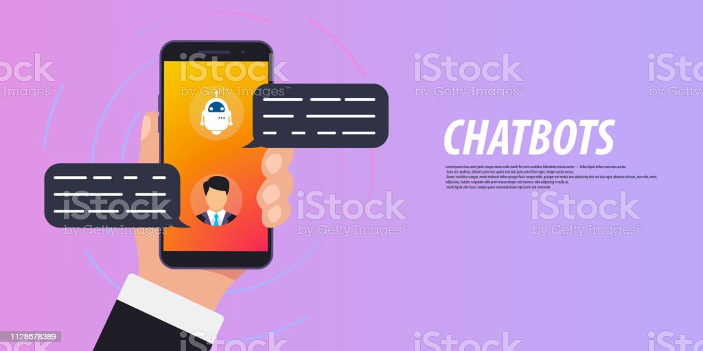 Chatbot Concept Man Chatting With Chat Bot On Smartphone Online