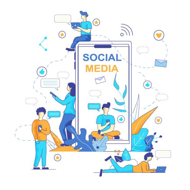 ilustrações de stock, clip art, desenhos animados e ícones de chatbot messenger popular trend in social media. - training