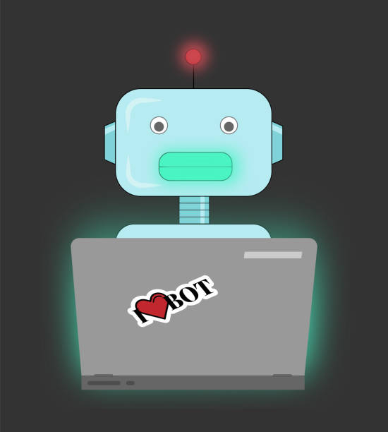 Chatbot vector art illustration