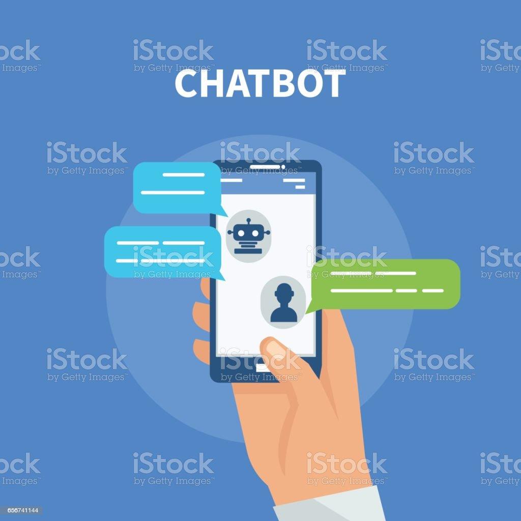 Chatbot vector art illustration