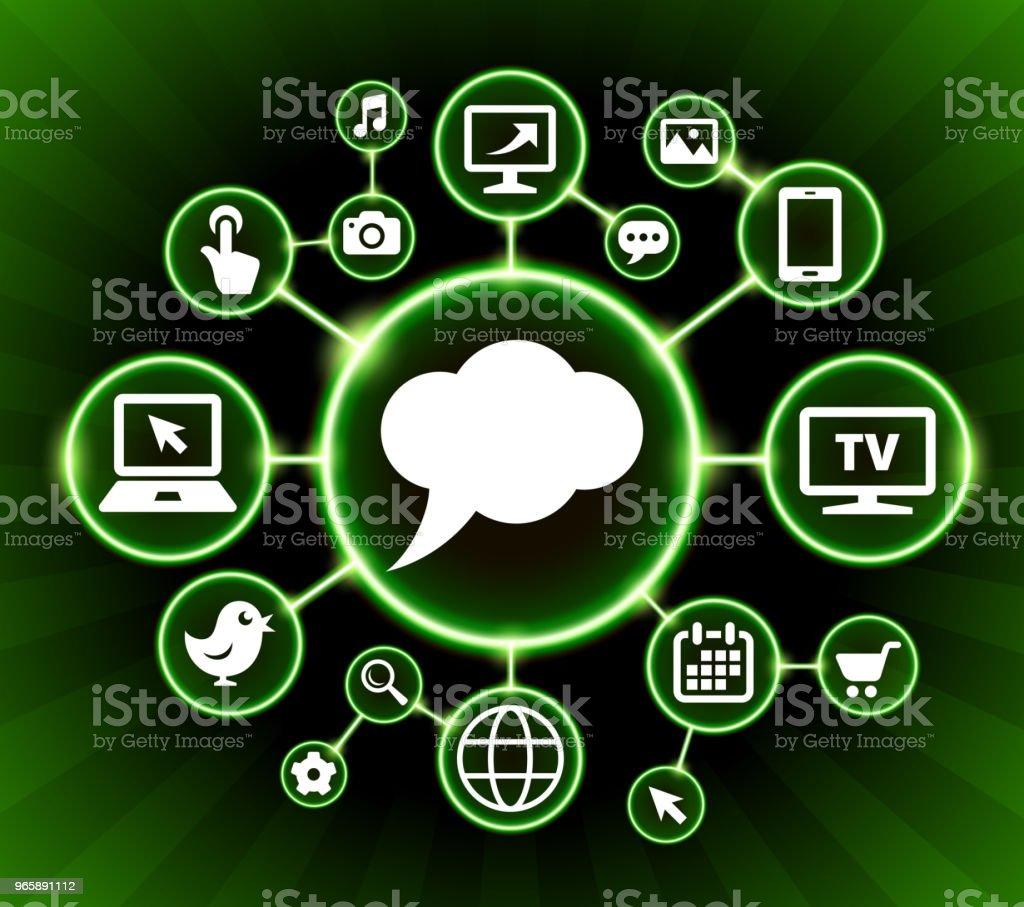 Chatbubbles Internet communicatie technologie Dark knoppen achtergrond - Royalty-free Achtergrond - Thema vectorkunst