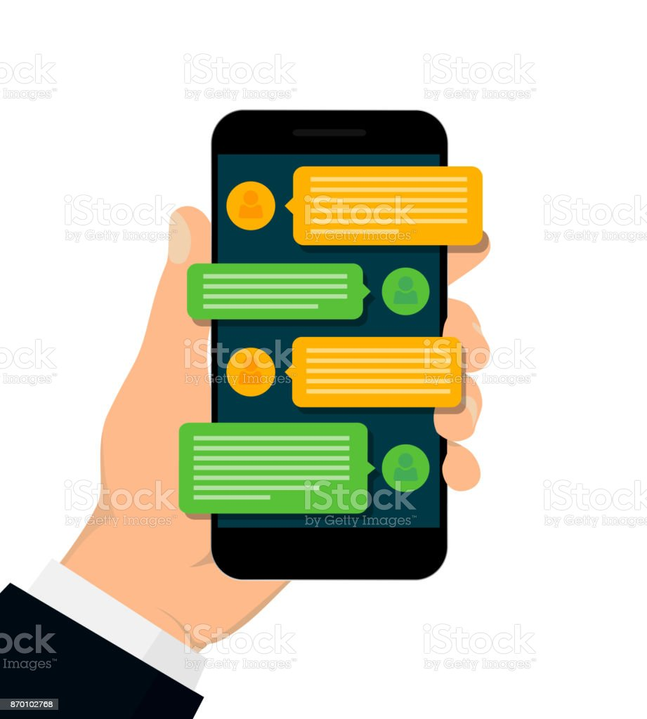 Chatting and messaging concept. vector art illustration