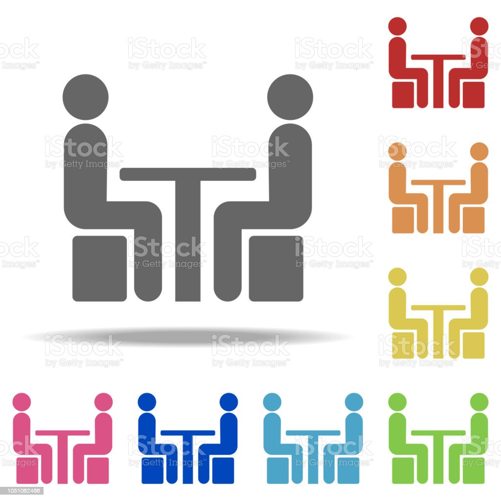 Chatting At The Table Icon Elements Of Conversation In Multi