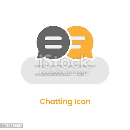 istock Chatting Icon Speech Bubble Vector Design on White Background. 1280546662