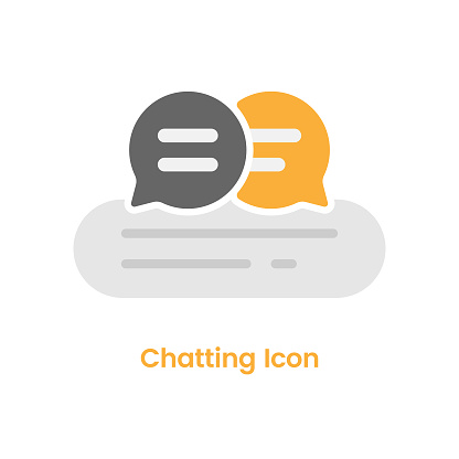 Chatting Icon Speech Bubble Vector Design on White Background.